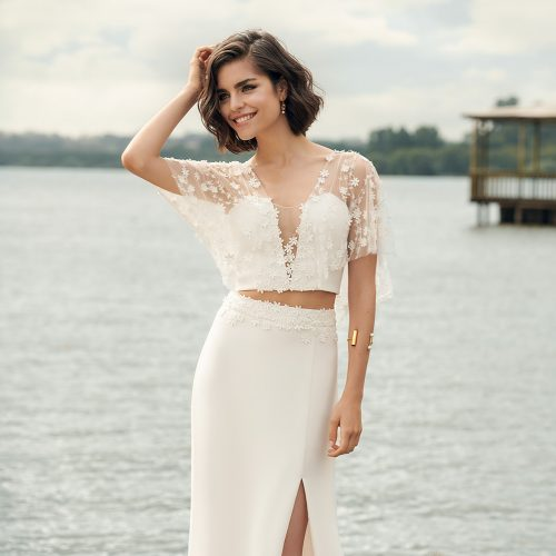 Renaux bridal dress - closeup